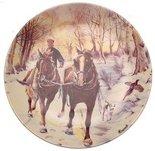 Danbury Mint Wedgwood of Etruria Winters Day from The Working Horses Collection  - $38.21