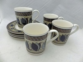 Mikasa Intaglio Arabella #CAC01 - set/lot of 4 Cup and Saucer sets - EUC - $18.32