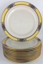 Lenox M3B set of (12) twelve salad / luncheon plates - yellow / floral - $340.00