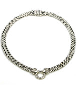 David Yurman Sterling Silver Double Wheat Chain Necklace with Diamonds - $836.55