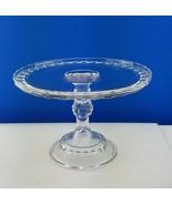 Antique EAPG Cake Stand Dakota aka Baby Thumbprint Clear Glass Ripley & ... - $148.50