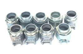 """LOT OF 9 NEW THOMAS & BETTS 1"""" NPT X 1-1/2"""" TUBE CONNECTOR FITTINGS image 1"""