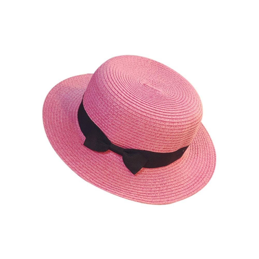 Floppy Foldable Ladies Women Straw Beach Sun Summer Hat Beige Wide Brim Breathab image 3