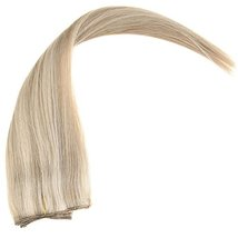 YoungSee 14inch Remy Human Hair Halo Extensions with Clips Dark Ash Brown with G image 8