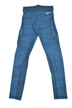 Nike Womens Hypercool Athletic leggings Aqua Blue S 6880-3 - $32.39