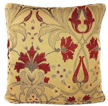 """FILLED TAPESTRY CHENILLE EMBROIDERED FLORAL 17"""" - 43CM CUSHION - $15.75"""