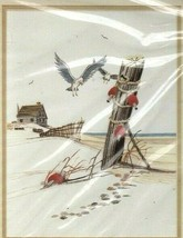 Vintage Creative Expressions Crewel Kit Season's End Nautical Beach Shor... - $22.51