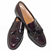 Salvatore Ferragamo Burgundy Calfskin Tassel Loafer Leather Made in Italy 11-1/2 - $239.99