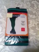 Girls Size 7-10 Med. Wonderland Costumes tights green black stockings - $8.25