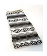 Mexican Blanket Serape colors black, grey & white - $19.75