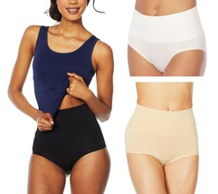 Yummie 3-pack Seamless Shaping Girl Short, Black/Frappe/White, S/M (631392) - $29.69