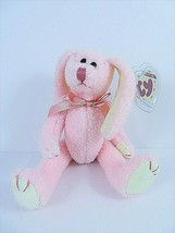 """Ty Collectibles Strawbunny Beanie Baby 1993 Attic Treasures 8"""" Pale Pink Rabbit - $12.50"""
