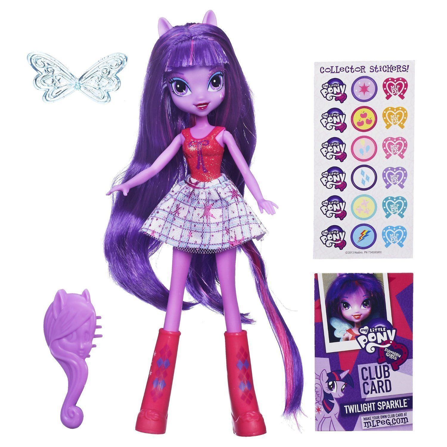 My Little Pony Equestria Hasbro 9 Girls Doll - Purple Hair Twilight Sparkle