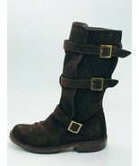 Fiorentini Baker Womens Eternity Buckle Boots Dark Brown Suede Size 37M - $197.99