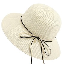 SAGACE hat Women Ladies Straw Beach Hat Sun Summer Wide Brim Derby Hat F... - $14.14