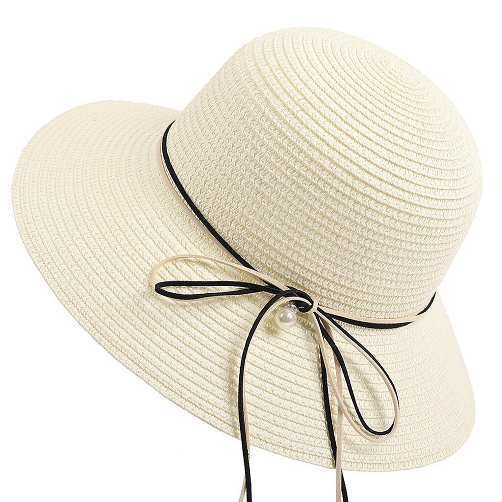 Primary image for SAGACE hat Women Ladies Straw Beach Hat Sun Summer Wide Brim Derby Hat Floppy Fo