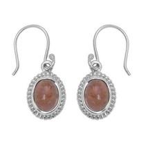 925 Sterling Silver Exclusive Tourmaline Gemstone Hook Earring Jewelry S... - $24.42