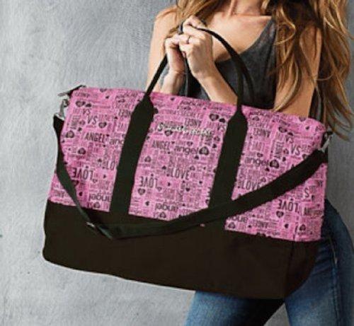Victoria's Secret Black Pink Monogram Getaway Duffle Bag