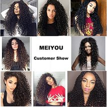 "Water Wave 3 Bundles 10"" 12"" 14"" Brazilian Human Hair 8A Unprocessed Wet and Wav image 7"