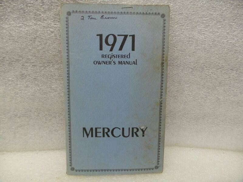 MERCURY   1971 Owners Manual 17484