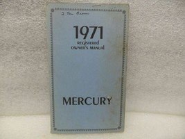 MERCURY   1971 Owners Manual 17484 - $16.78