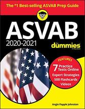 2020-2021 ASVAB for Dummies: Book + 7 Practice Tests Online + Flashcards... - $8.90