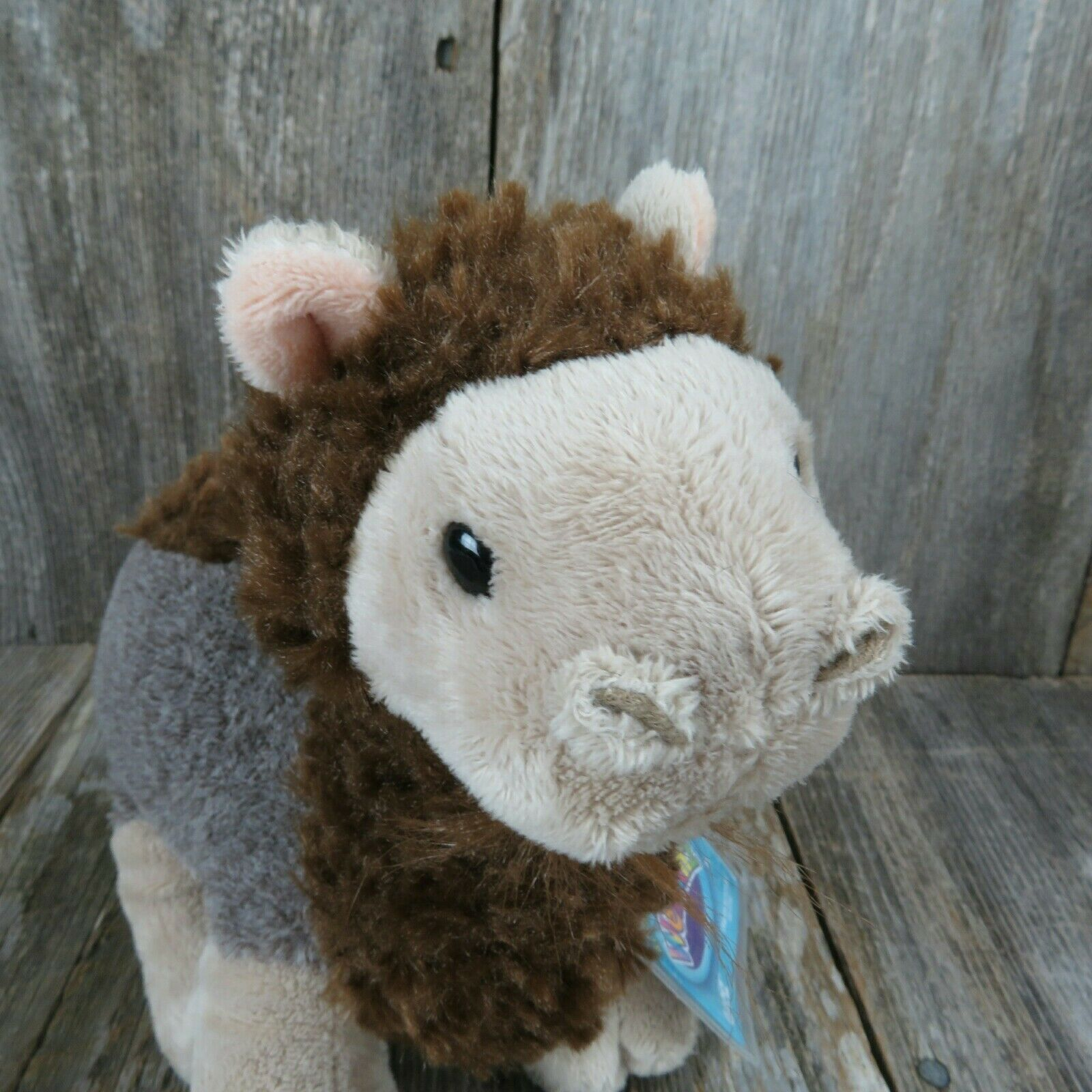 Ganz Webkinz Curly Camel Brown Plush Stuffed Animal 8 Inch HM568 Secret Code