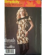 Misses Threads Dress & Tie Belt Sewing Pattern Sizes 12-20 Simplicity 05... - $5.99
