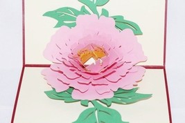 Pink Flower Pop Up Greeting Card Handmade Happy Birthday Mother Annivers... - $6.99
