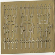 crosses sheet of peel off stickers  ideal cards, papercraft, displays, scrapbook