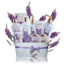 Spa Gift Baskets for Women Lavender - #1 Lush mothers day gift set in es... - $43.69