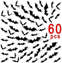 Ivenf Halloween Party Supplies Decorations Window Decor Scary Bats 3D W... - €13,40 EUR