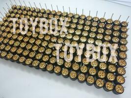 [PROMO] HOT WHEELS 4 SPOKE R/R RUBBER WHEELS TIRES GOLD 100 SETS 10MM 1/64 - $199.90