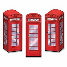 Club Pack of 36 Decorative Red 3-Dimensional Phone Booth Party Favor Boxes - $61.87