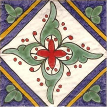Portuguese Tiles Chaves   Repetitive Patterns   Hand Painted Ceramic Til... - $25.00
