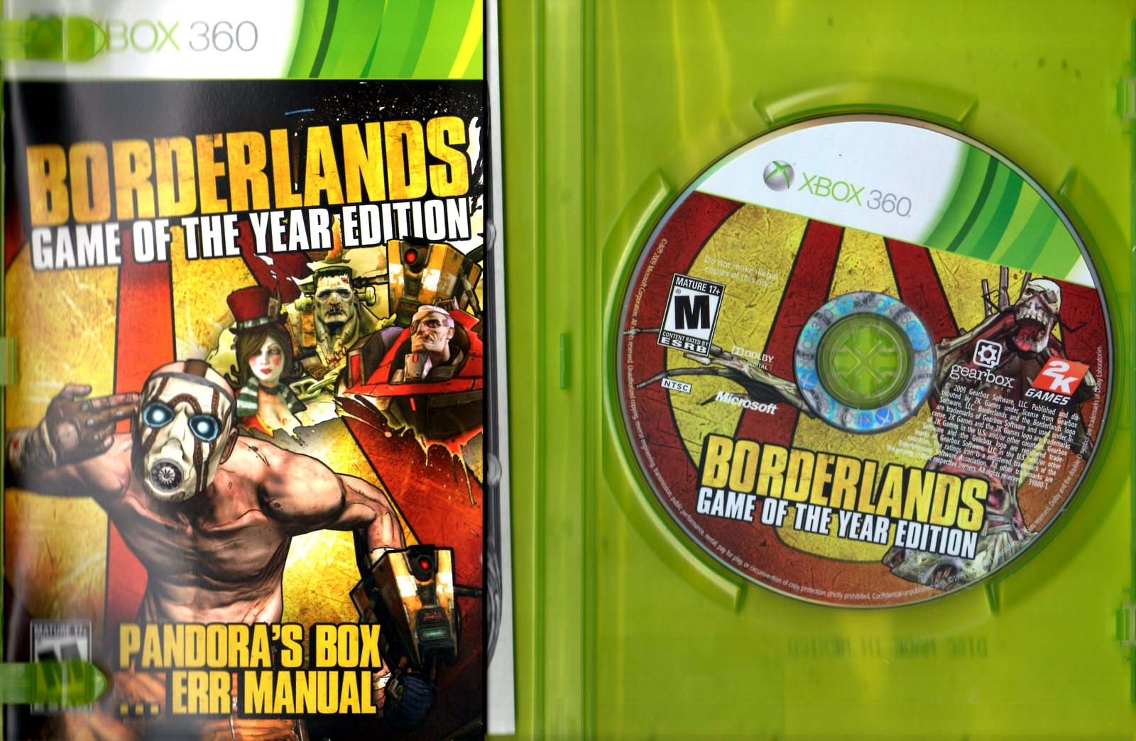 XBOX 360 - Borderlands (Game Of The Year Edition)