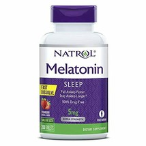 Natrol Melatonin Fast Dissolve Tablets, Helps You Fall Asleep Faster, Stay Aslee - $19.03