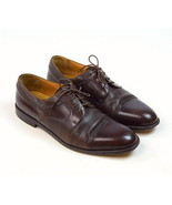 MEZLAN Napoli Soft Luxe Brown Leather Cap Toe Oxford Dress Shoes Mens Si... - $34.64