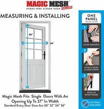 Magic Mesh Deluxe- Black- Hands Free Magnetic Screen Door image 4