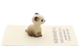 Hagen-Renaker Miniature Cat Figurine Tiny Siamese Kitten Sitting Seal Point image 4