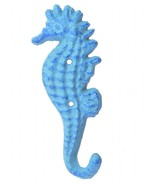 Blue Seahorse Wall Hook Decorative Coat Towel Hanger Decor Nautical 5.25... - $7.99