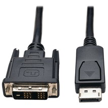 Tripp Lite Displayport To Dvi-d Single-link Adapter Cable With Latches, 10ft - $48.84