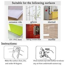 Suction Cup Without Hooks Clear Plastic Sucker Pads for Bathroom Glass Kitchen W image 7