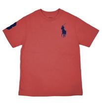 Polo Ralph Lauren Boys Red Big Pony Short Sleeve Tee Shirt Large 14-16  ... - $18.50