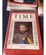 Magazine Issue Time.   Haile. Selassie.  Man Of The Year. January 6, 1936 - $296.99