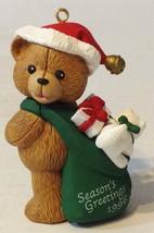 Roundy's Christmas Ornament Seasons Greetings Series Santa Bear - $13.85