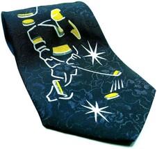 Ice Hockey Players Skates Pucks Sports Novelty Necktie - $14.85