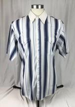 Vintage Wrangler Western X-Long Tails Pearl Snap Shirt Stripe Men's XL 1... - $14.96