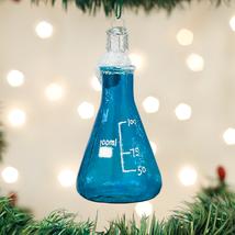 OLD WORLD CHRISTMAS SCIENCE BEAKER CHEMISTRY GLASS CHRISTMAS ORNAMENT 36238 - $8.88