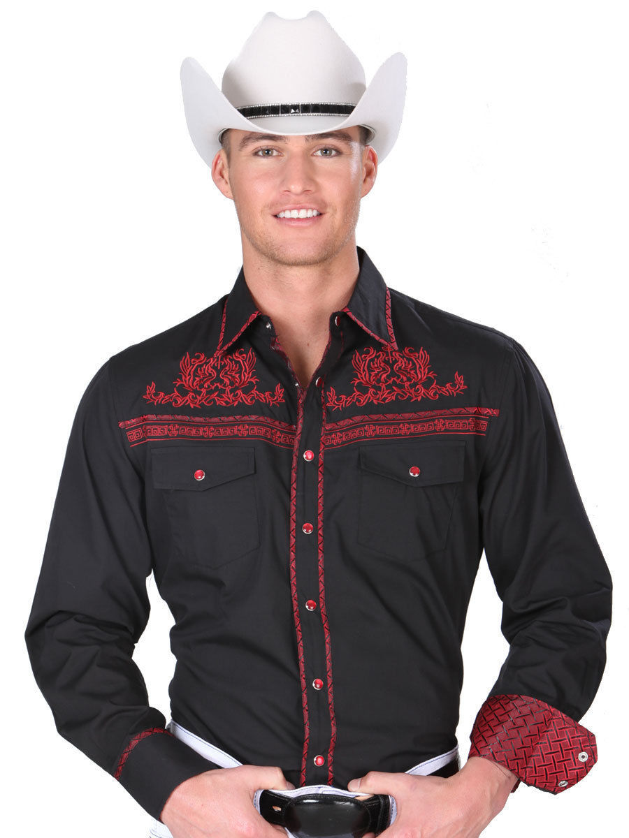Primary image for Western Shirt L/Sleeve (Spcls) El General 55% Cotton 45% Polyester ID 34242 CA3